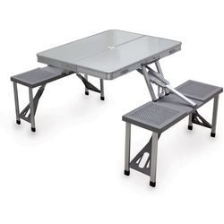Picnic Time Aluminum Picnic Table with Seats