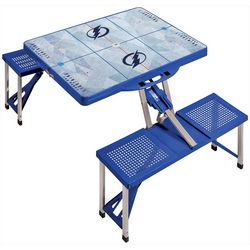 Tampa Bay Lightning Portable Folding Picnic Table