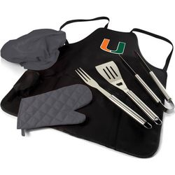 Miami Hurricanes BBQ Apron Tote Pro by Picnic Time
