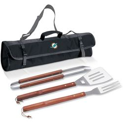 Miami Dolphins 3-pc. BBQ Tool Set by Picnic Time
