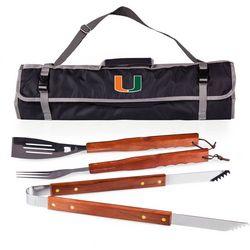 Miami Hurricanes 3-pc. BBQ Tool Set by Picnic Time