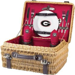 Georgia Bulldogs Picnic Basket by Picnic Time