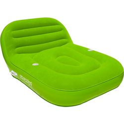 Cool Suede Double Chaise Lounge Float