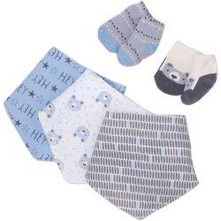 Chick Pea Baby Boys 5-pc. Bear Bandana Bibs & Socks Set