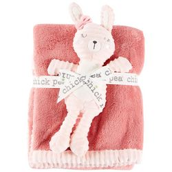 Chick Pea Baby Girls 2-pc. Baby Blanket & Bunny Plush Set