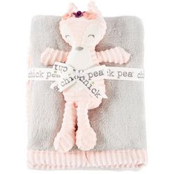Chick Pea Baby Girls 2-pc. Baby Blanket & Fox Plush Set