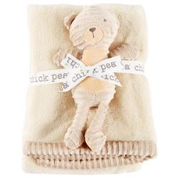 Chick Pea Baby Unisex 2-pc. Baby Blanket & Bear Plush Set