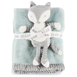 Chick Pea Baby Unisex 2-pc. Baby Blanket & Fox Plush Set