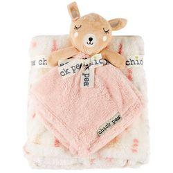 Chick Pea Baby Girls 2-pc. Deer Nunu & Blanket Set
