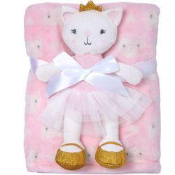 Baby Gear Baby Girls 2-pc. Kitty Blanket & Plush Set
