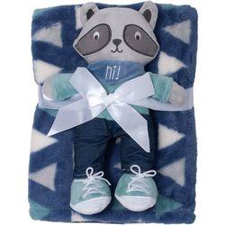 Baby Gear Baby Boys 2-pc. Raccoon Blanket & Plush Set