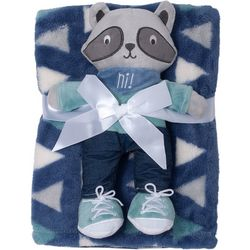 Baby Gear Baby Boys 2-pc. Raccoon Blanket & Plush Set