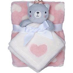 Baby Gear Baby Girls 2-pc. Princess Kitty Blanket & Nunu Set