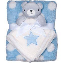 Baby Gear Baby Boys 2-pc. Dot Blanket & Bear Nunu Set