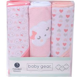 Baby Gear Baby Girls 3-pk. Cloud Hooded Towel Set