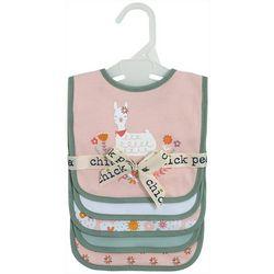 Chick Pea Baby Girls 5-pk. Llama Bibs