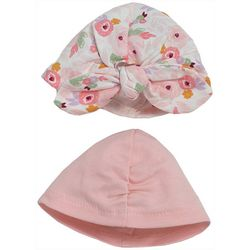 Chick Pea Baby Girls 2-pc. Floral Hat Set