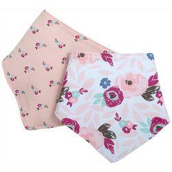 Chick Pea Baby Girls 2-pc. Floral Bandana Bibs Set