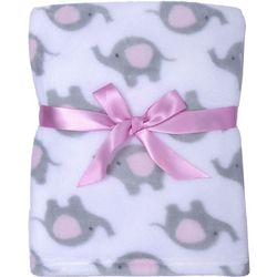 Cutie Pie Baby Baby Girls Elephant Blanket