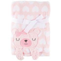 Baby Gear Baby Girls Bear & Hearts Blanket