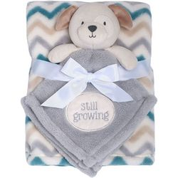 Baby Gear Baby Boys 2-pc. Still Growing Dog Blanket Set