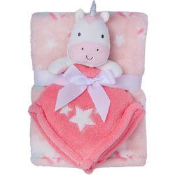 Baby Gear Baby Girls 2-pc. Unicorn Blanket & Nunu Set