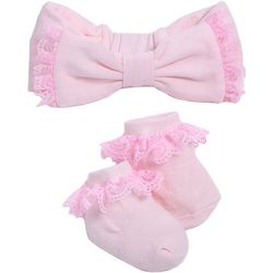 Kyle & Deena Baby Girls 2-pc. Lace Headband & Socks Set