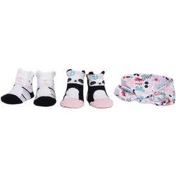 Chick Pea Baby Girls 3-pc. Floral Headband & Socks Set