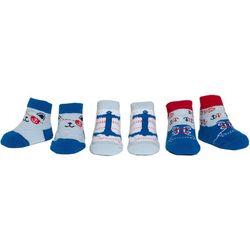 Cutie Pie Baby Baby Boys 3-pk. Nautical Print Socks