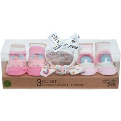 Chick Pea Baby Girls 3-pk. Rainbow Sock &