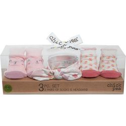 Chick Pea Baby Girls 3-pk. Floral Sock &