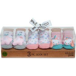 Chick Pea Baby Girls 3-pk. Unicorn Rattle Socks Set