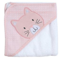 Chick Pea Baby Girls Cat Hooded Towel