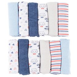 Baby Gear Baby Boys 12-pk. Raccoon Washcloths