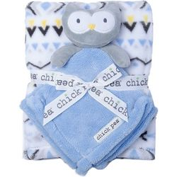 Chick Pea Baby Boys 2-pc. Owl Nunu & Blanket Set