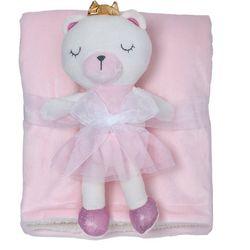 Chick Pea Baby Girls 2-pc. Baby Blanket & Bear Plush Set