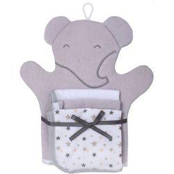 Cutie Pie Baby Baby Boys 4-pc. Elephant Mitt & Washcloth Set