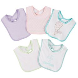 Chick Pea Baby Girls 5-pk. Mermaid Bibs