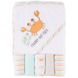 Baby Gear Baby Boys 6-pc. Crabby But Cute Hooded Towel Set