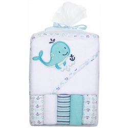 Baby Gear Baby Boys 6-pc. Whale Hooded Towel Set