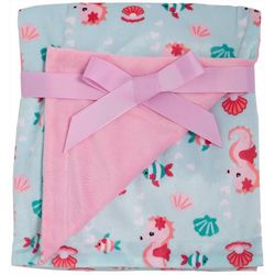 Chick Pea Baby Girls Seahorse Baby Blanket
