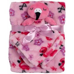 Chick Pea Baby Girls 2-pc. Flamingo Nunu & Blanket Set