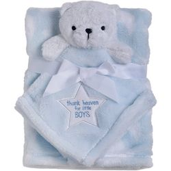 Baby Gear Baby Boys 2-pc. Thank Heaven Bear Blanket Set