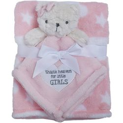 Baby Gear Baby Girl 2-pc. Thank Heaven Bear Star Blanket Set