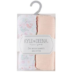 Kyle & Deena Baby Girls 2-pk. Mermaid Muslin Blankets