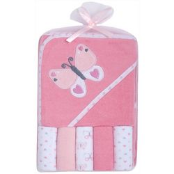 Baby Gear Baby Girls 6-pc. Butterfly Hooded Towel Set