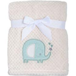 Amelia Baby Baby Boys Elephant Textured Baby Blanket