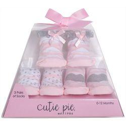 Cutie Pie Baby Baby Girls 3-pk. Ballet Print Socks