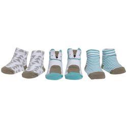Mini Muffin Baby Boys 3-pk. Bear Striped Socks