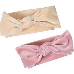 Chick Pea Baby Girls 2-pc. Solid Bow Headband Set